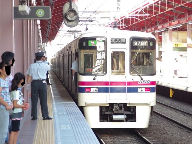 都営新宿線船堀駅2番線 京王9031急行本八幡行き前方確認