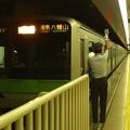 都営新宿線市ヶ谷駅1番線 都営10-330F各停八幡山行き客終合図