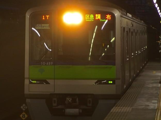 京王線明大前駅1番線 都営10-480F区急調布行き進入