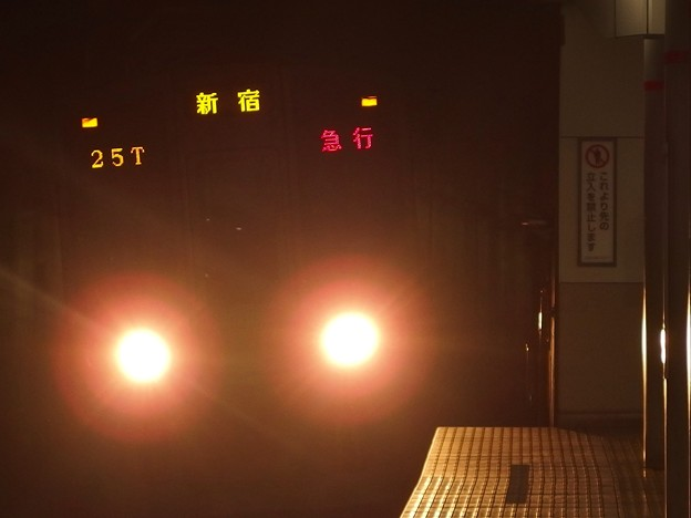 京王新線幡ヶ谷駅2番線 都営10-280F急行新線新宿行き進入