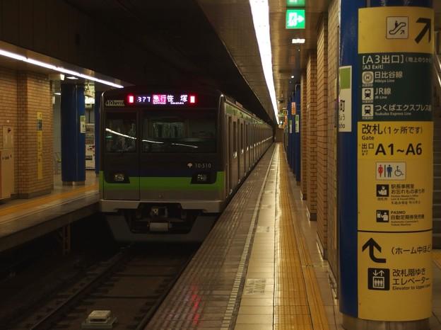 都営新宿線岩本町駅2番線 都営10-510F急行笹塚行き通過後方確認