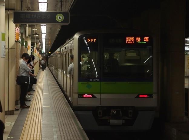都営新宿線九段下駅5番線 都営10-320F各停笹塚行き前方確認