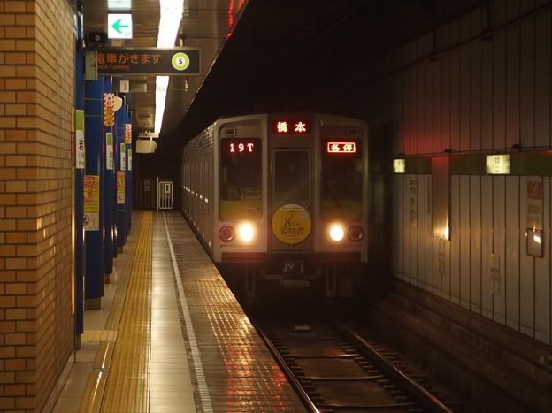 都営新宿線岩本町駅1番線 都営10-240F各停橋本行き進入