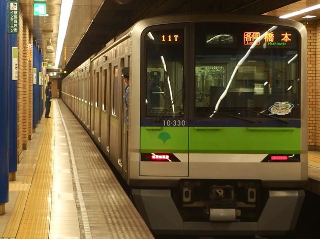 都営新宿線岩本町駅2番線 都営10-330F各停橋本行き前方確認