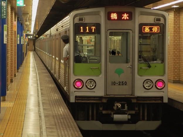 Photos: 都営新宿線岩本町駅2番線 都営10-250F各停橋本行き前方確認