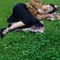 Photos: 芝生の上で
