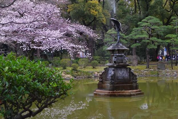 鶴の噴水(4)