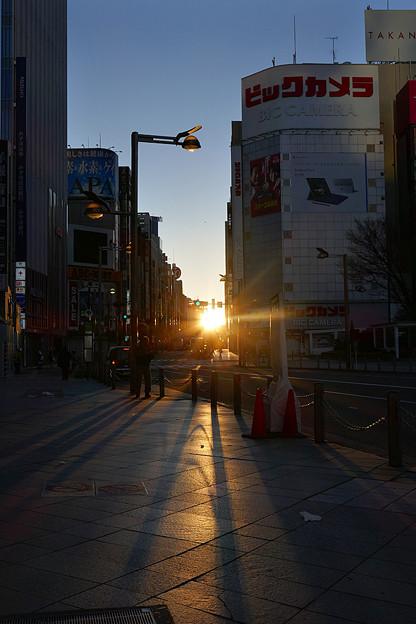 写真: 朝の新宿通り