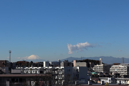 児童遊園地からの富士山