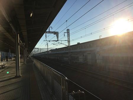 三島駅新幹線ホーム!出発します!