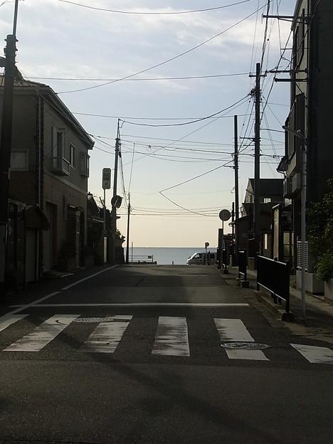 写真: 今朝の坂ノ下