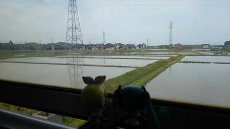 井口→小柳間。 リン:「一気に田舎っぽくなってきた!」