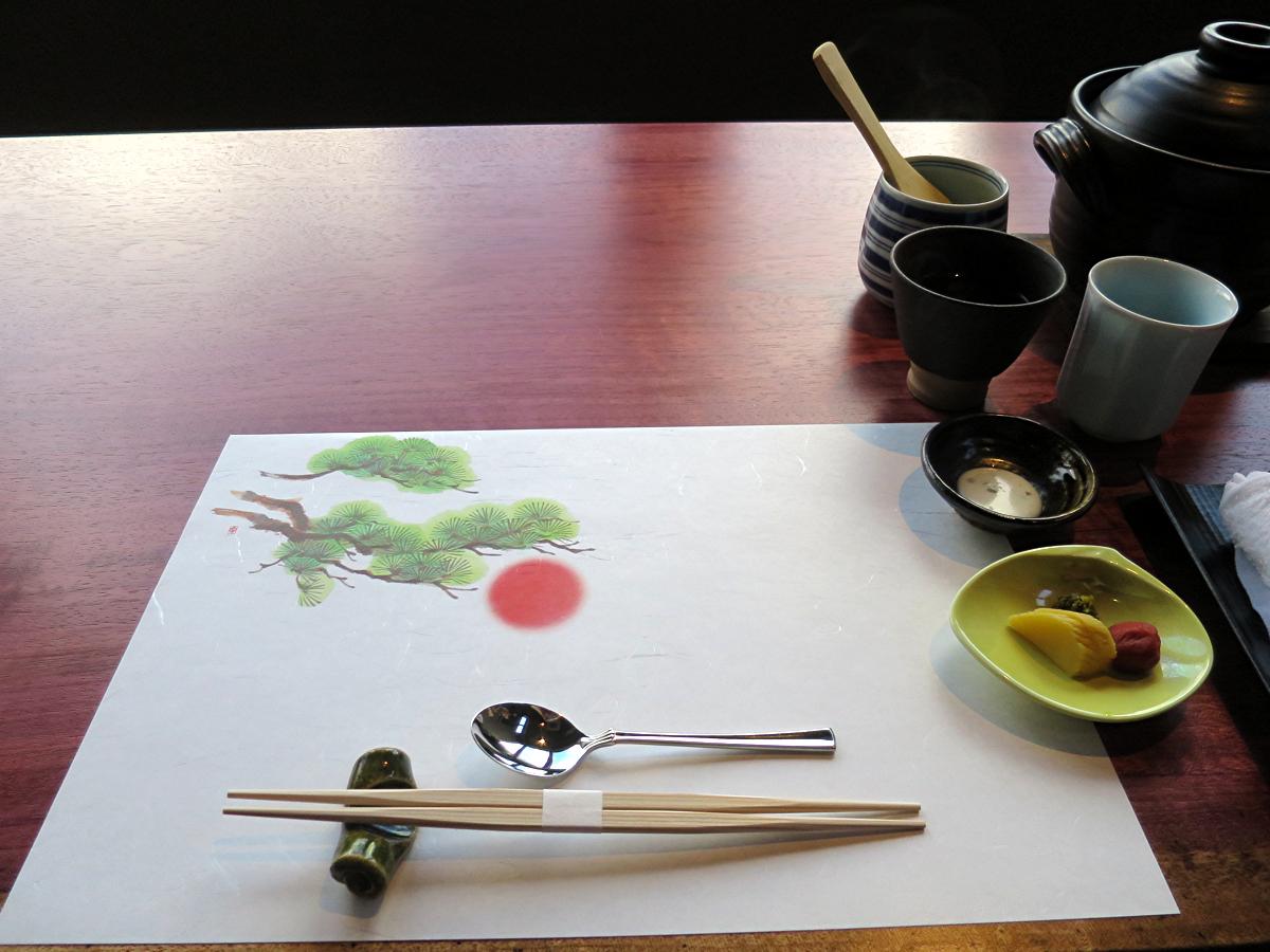 朝食テーブルセット