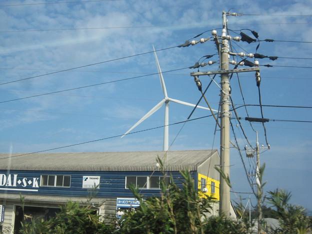 浅利海岸の風車