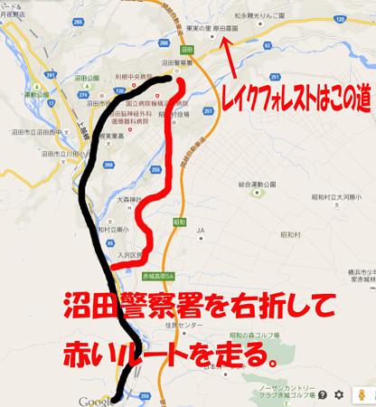 沼田IC近辺の近道