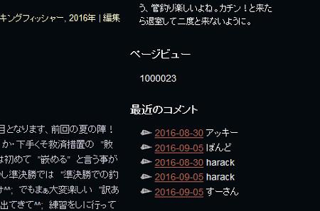祝・傾奇者ブログ100万アクセス達成^^