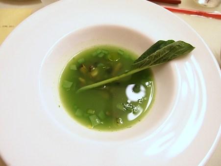 小松菜とサザエのスープ