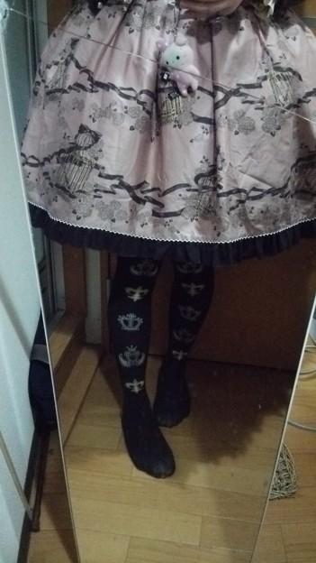 鏡割れてるけど、最後の足元(´・ω・`) 今日は茶色成分多めでした(´ω`)