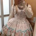 今日のお茶会で着ていったお洋服。メタモのBrass band catシリーズの衿付JSK。ドレスコードが猫柄のお洋服だったのでこの子でお出かけヽ(`▽´)/