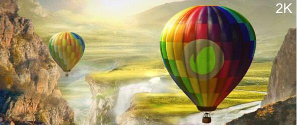 多彩热气球Logo演绎动画AE模板(Videohive Colourful World Hot Air Balloon Logo)