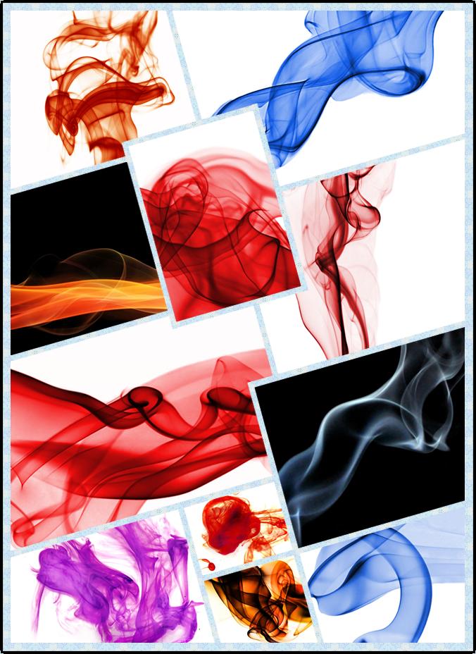 高清抽象彩色烟雾图+烟雾线条矢量素材+150套Q版烟雾冲击火焰序列素材