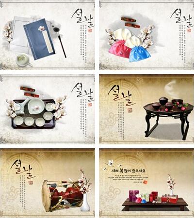 韩式古典风格静物PSD分层素材