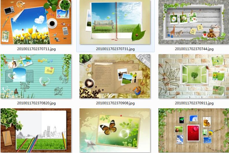 矢量边框+psd边框+木质边框+边框笔刷+照片边框+中式花纹边框素材