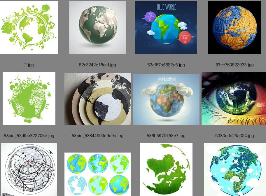 地球矢量素材+psd素材