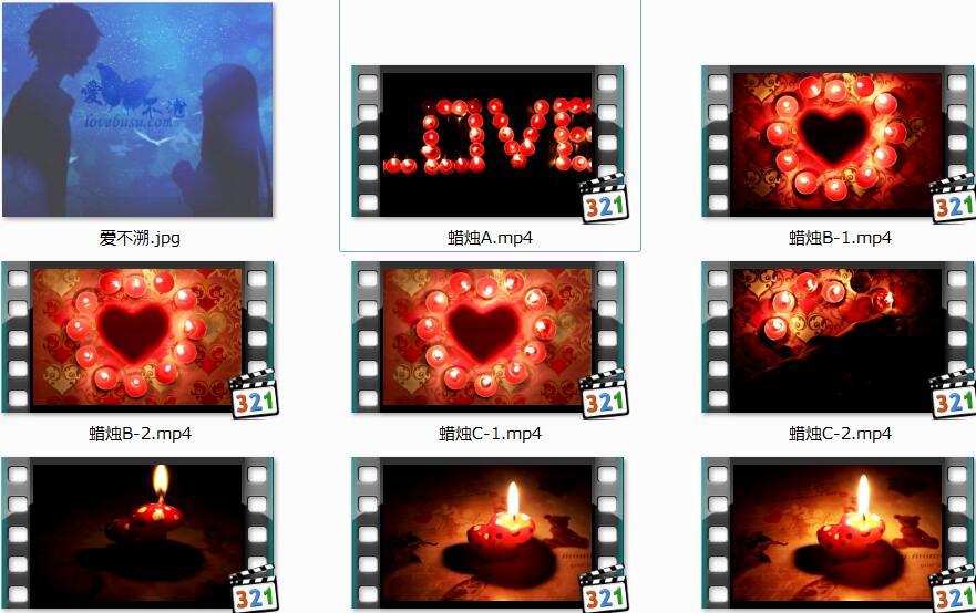 温暖的蜡烛视频素材-点燃的爱