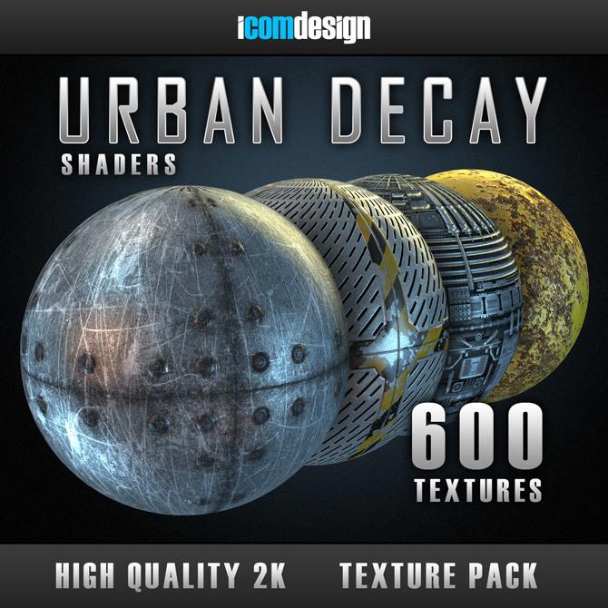600+Element 3D/E3D石头钢铁混凝土城市建筑涂鸦2K材质预设包+使用教程