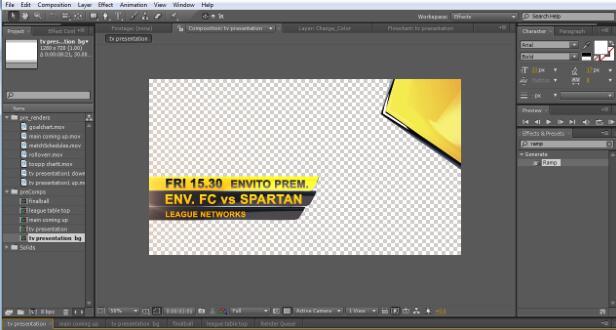 AE模板-足球体育直播图形包装VH Live Sports Graphics Z