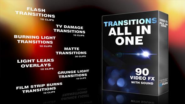 90组高清特效转场视频素材(Transitions All In One)