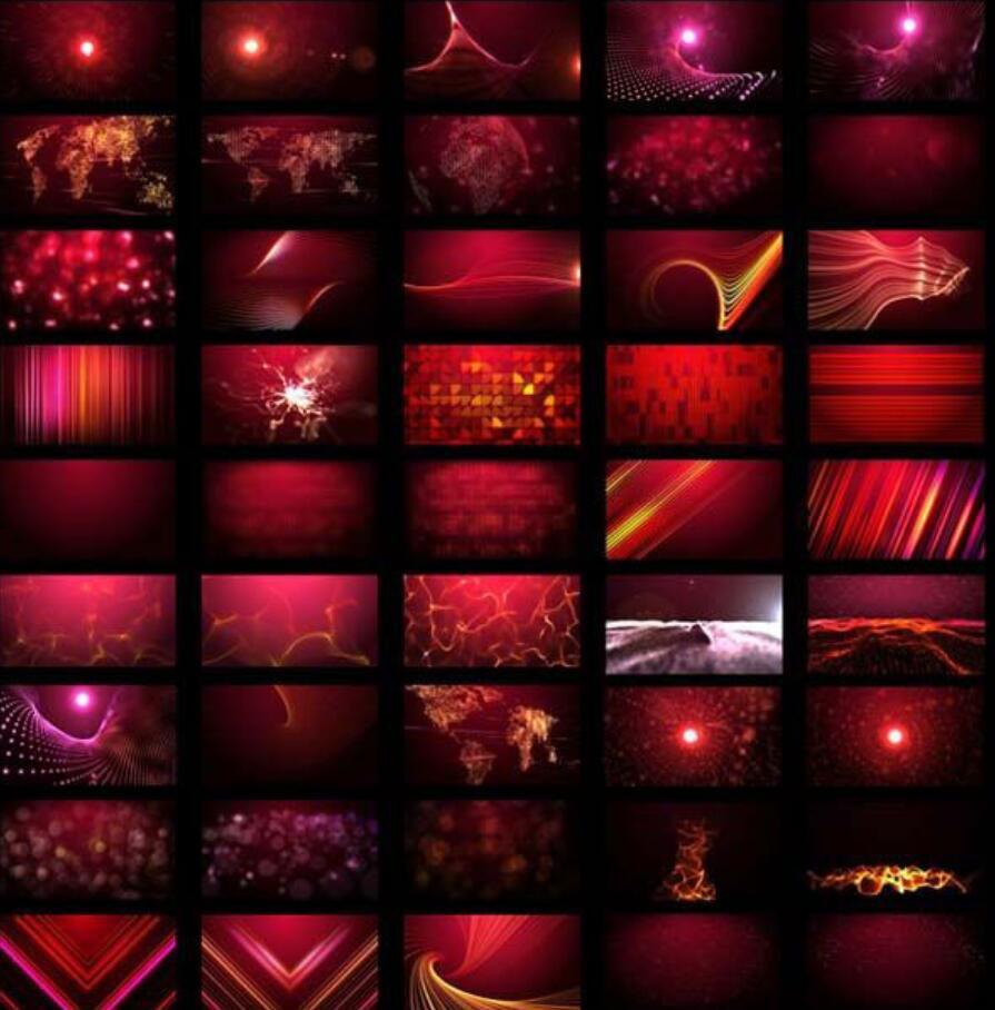 55个AE工程文件预设粒子循环背景(Harry Franks Looping Backgrounds)