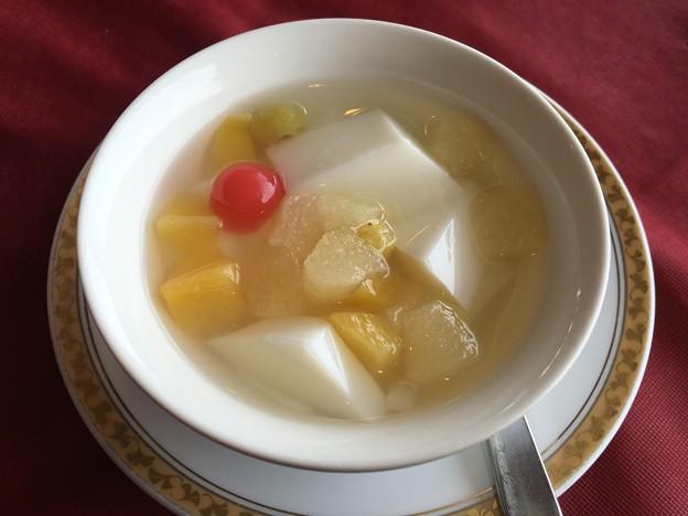 飲茶セット 杏仁豆腐
