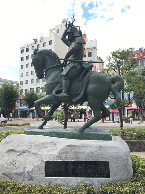 真田幸村公像 上田駅