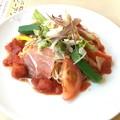 Photos: 秋田無限堂 稲庭うどん たっぷり野菜と生ハムの冷製トマトソース