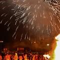 写真: しがらき火まつり