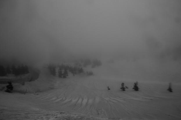 雪の回廊上