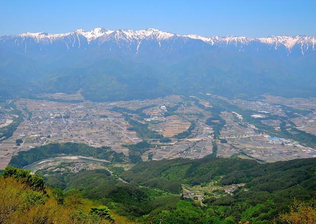 陣馬形山からの展望