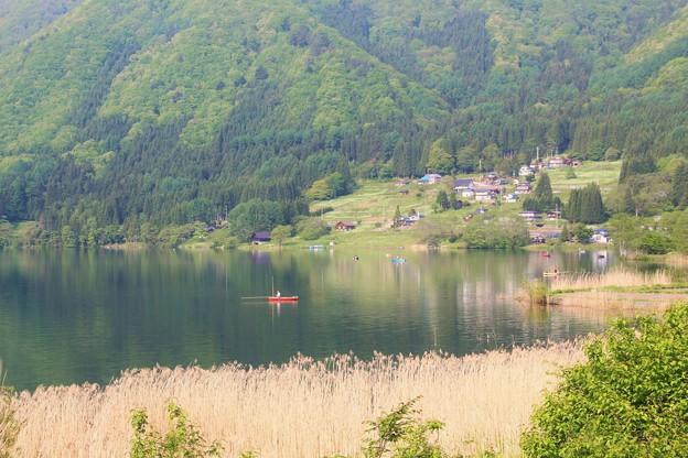 木崎湖にて