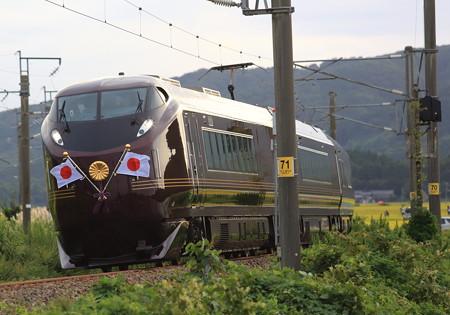 E655系お召し列車 大山踏切付近