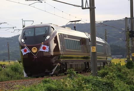 E655系お召し列車 大山踏切付近2
