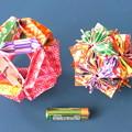 くす玉折り紙2種比較