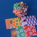 くす玉折り紙牡丹と元紙