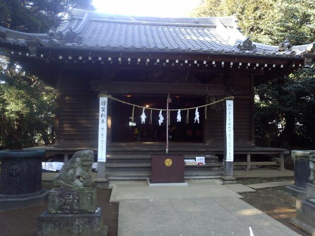 今まで初詣というと専ら有名な寺社で、地元のはあまり興味がなかったけど、意外にもなかなか趣がある佇まい。もっと早く来ればよかったよ。