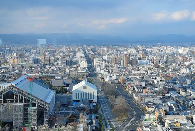 京都タワーから北方面の眺め