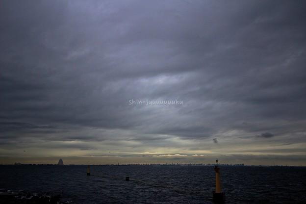 東京湾-嵐のあとの夕焼け1_wm