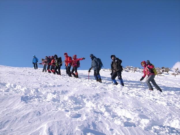日本の山 雪山講習会 那須茶臼岳 ヤッホー!