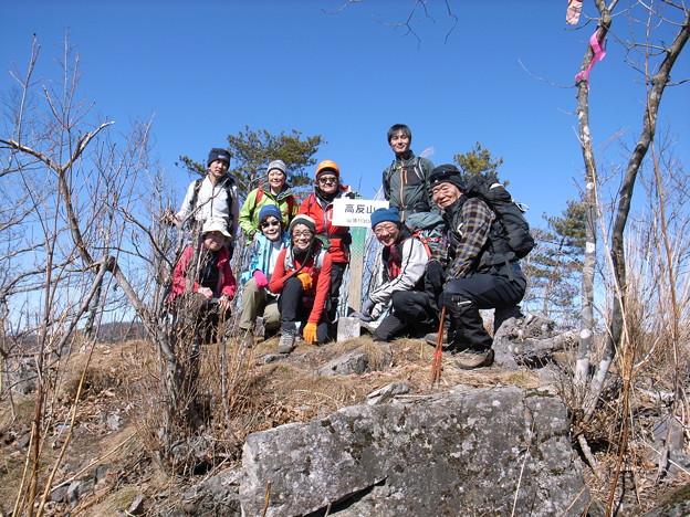 日本の山 西上州の山 高反山 高反山頂上です。