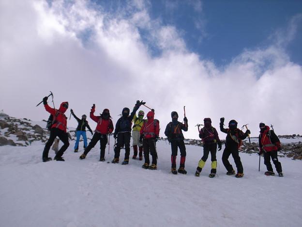 日本の山 雪山講習会 那須茶臼岳 STEP1・1班